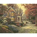 Plaid Creates Paint by Number Kit (16 by 20-Inch), 22085 Victorian Autumn by Thomas Kinkade