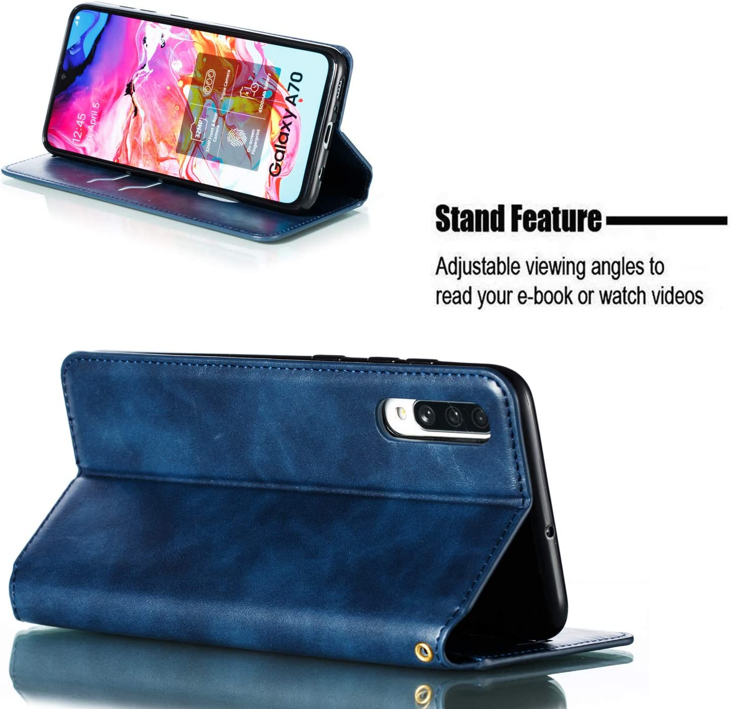 Brieftasche Handyh/ülle Klapph/ülle mit Kartenhalter Stossfest Lederh/ülle f/ür Samsung Galaxy A70 Tosim Galaxy A70 H/ülle Klappbar Leder TOYTE020113 Rot
