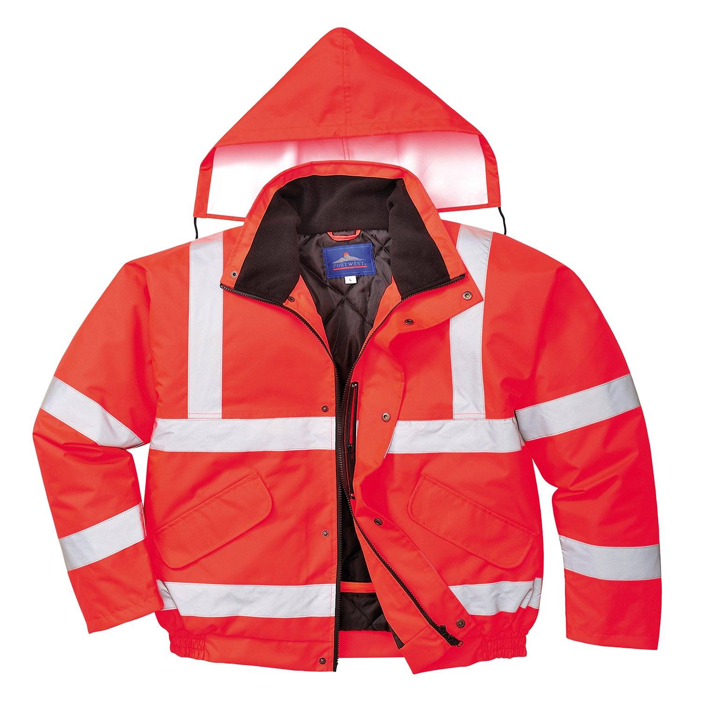 Red Regular Portwest S463RERXXXL Hi-Vis Bomber Jacket Size 3X-Large