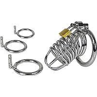 LOVONE Penis Kooi Kuisheidsgordel Grote Metalen met 3 Cockringen Kuisheidskooi Bondage Fetish Kuisheid Seksspeeltjes…