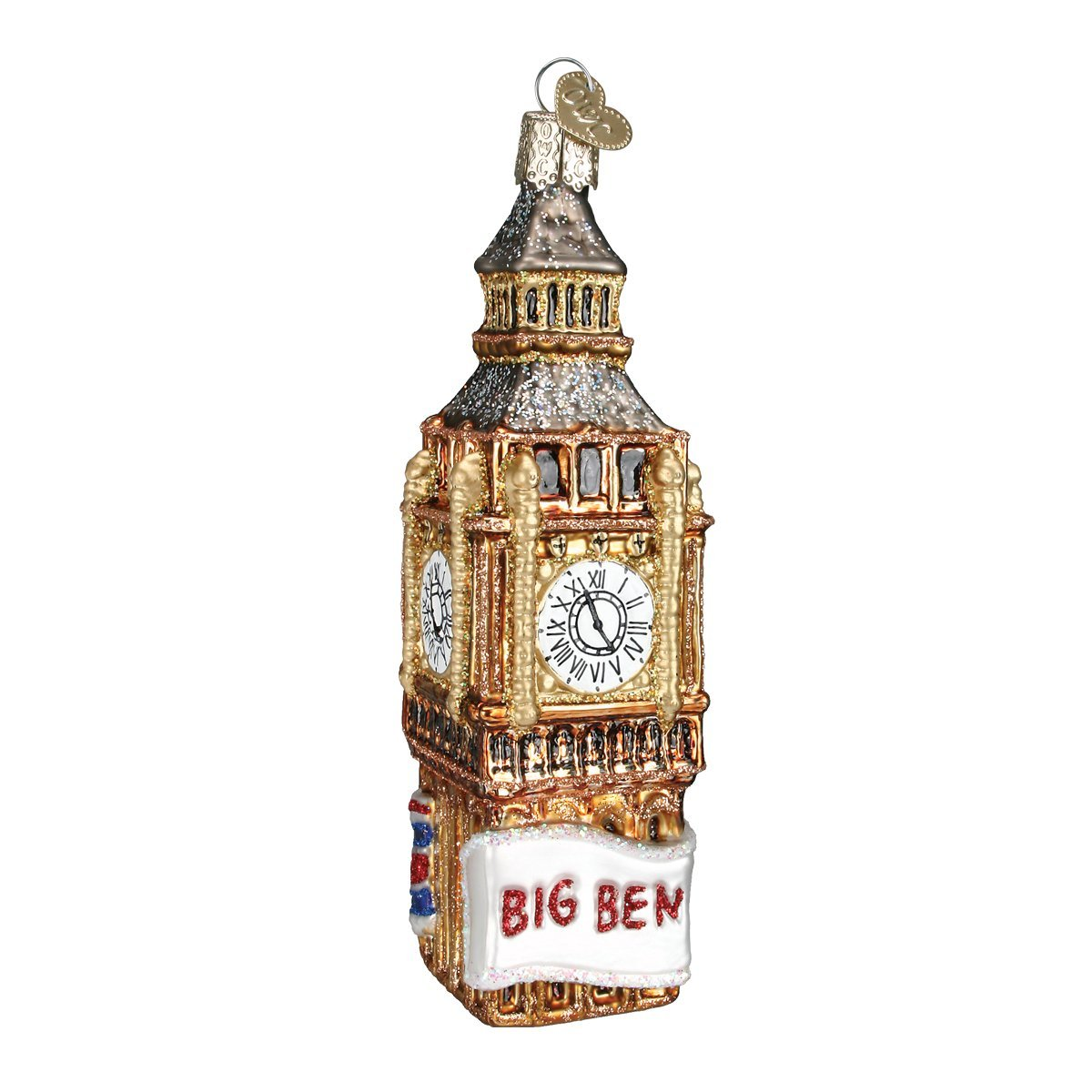 Amazon.com: Old World Christmas Ornaments: Big Ben Glass Blown Ornaments for Christmas Tree: Home & Kitchen