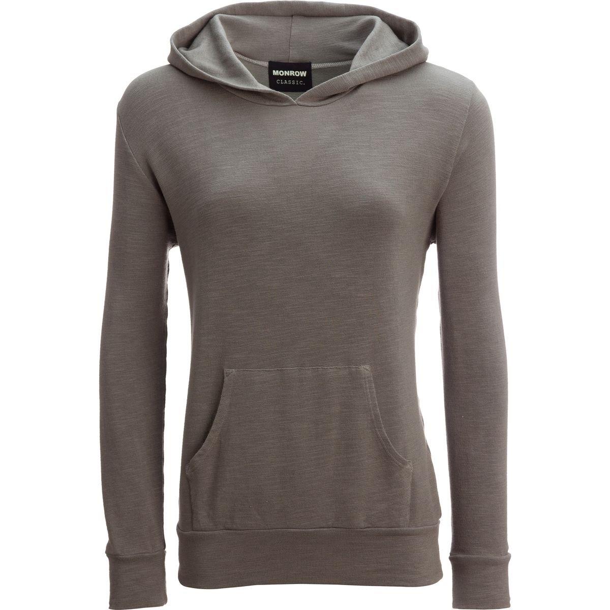 Monrow Super Soft Kangaroo Pullover Sweatshirt - Women's Cement, M
