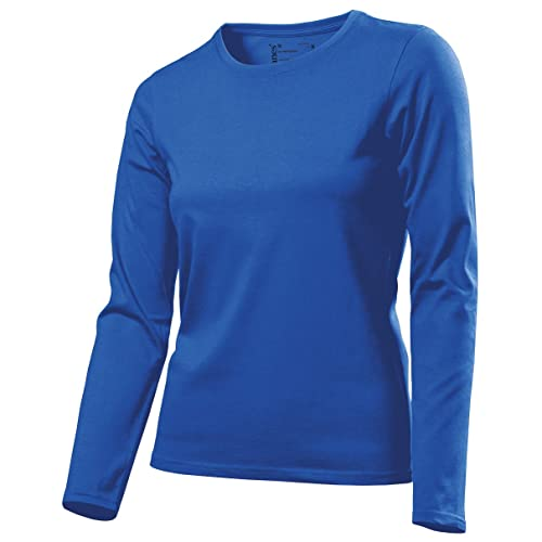Hanes Tagless- Camiseta ajustada de manga larga para chica/ mujer