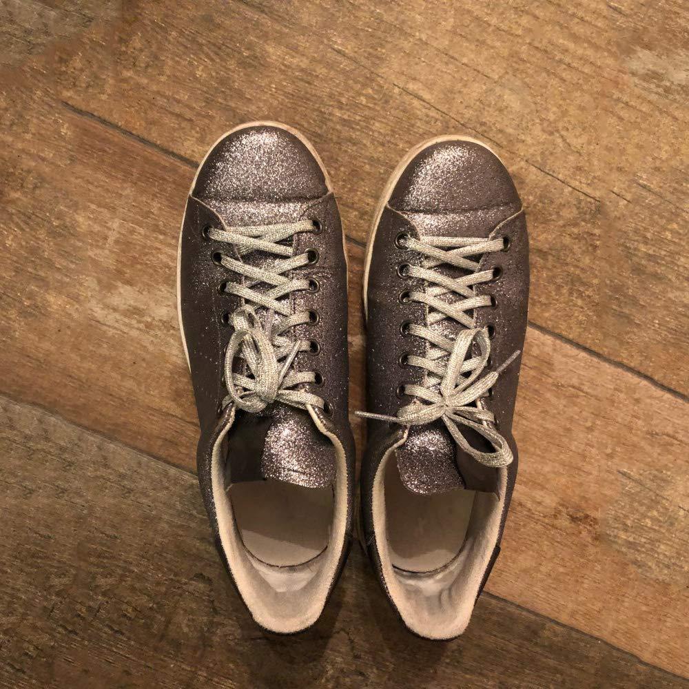 Sneakers Baskets Danse Sport ISKYBOB 13 Paires Lacets Plats /à Paillettes M/étalliques Brillantes Cordes /à Chaussures Color/ées pour Toile