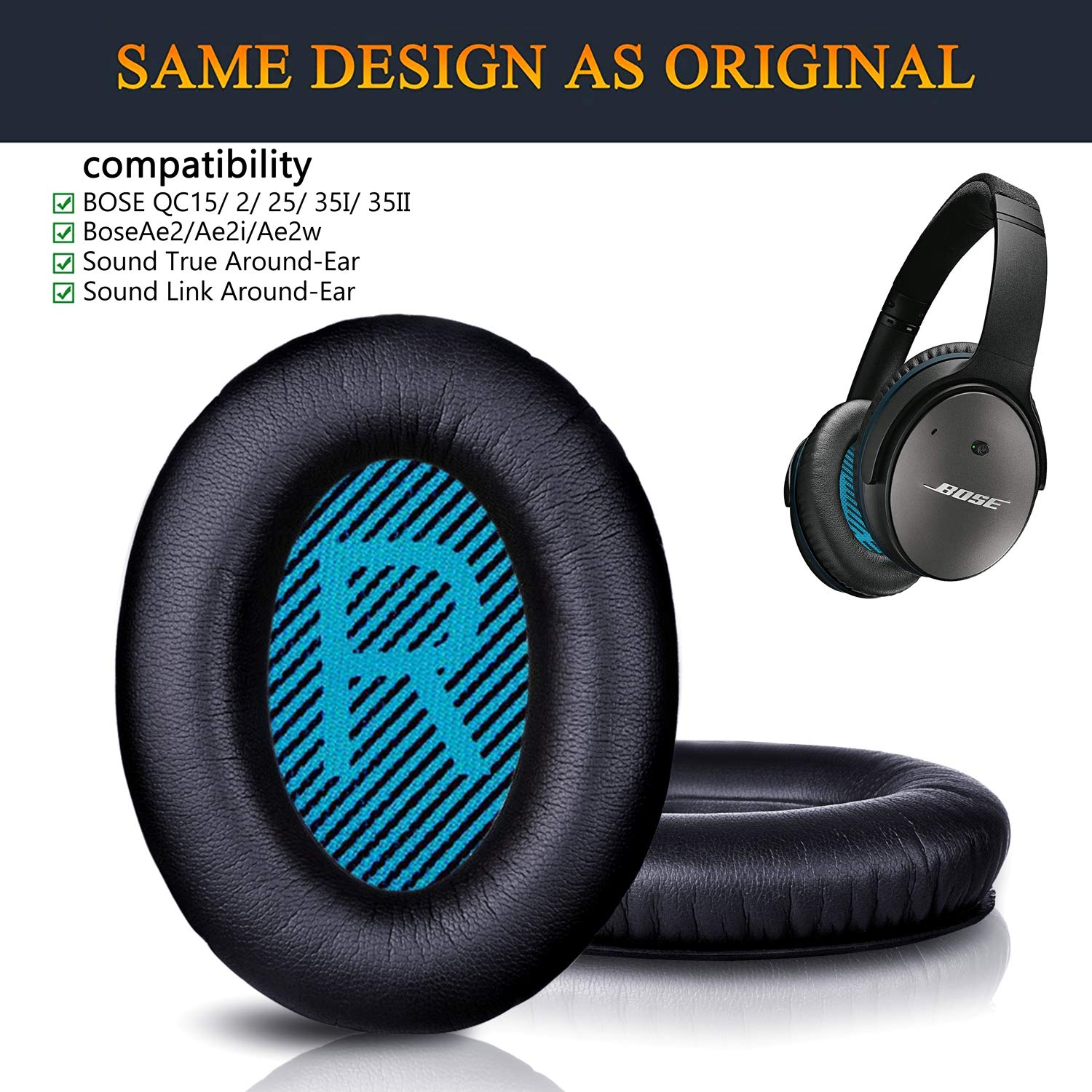 QC35 Earpads Compatible with Bose QuietComfort 35 Over-ear ...