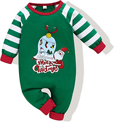 Kids Baby My First Christmas Party Romper Jumpsuit Infants Xmas Outfits Clothes