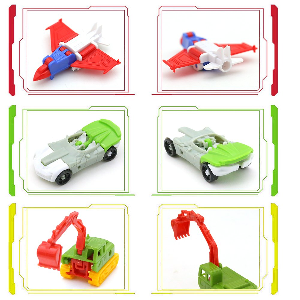 Mcpinky Transform Car Robot, 10PCS Pull Back VehiclesDeformation Car Shape Shifting Robot for Kids Children\'s Gift