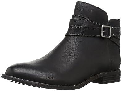 CLARKS Women's Maypearl Edie Ankle Bootie, Black, ...