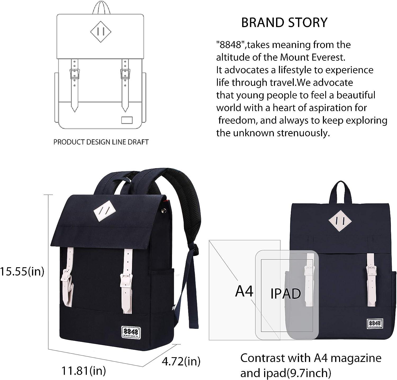 Durable School Backpack for Teens Expandable Capacity Waterproof Flip Cover Daypack