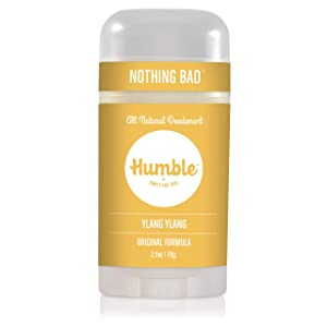Humble Brands All Natural Aluminum Free Deodorant Stick for Women and Men, Lasts All Day, Safe, and Certified Cruelty Free, Ylang Ylang, Pack of 1