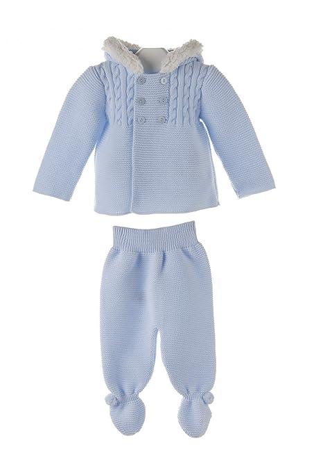 Pequesybebés - San francisco, conjunto de chaqueta y polaina para bebé con borreguito - 6