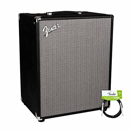 Fender Rumble 200 v3 Bass Combo Amplifier with Performance Series Instrument Cables for electric guitar,
