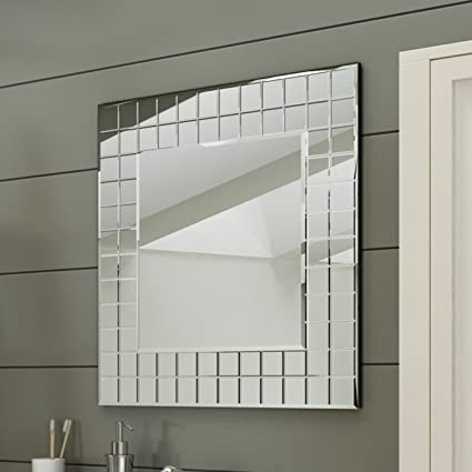 Soak Specchio di Design per Bagno, Design Mosaico Moderno, Quadrato ...