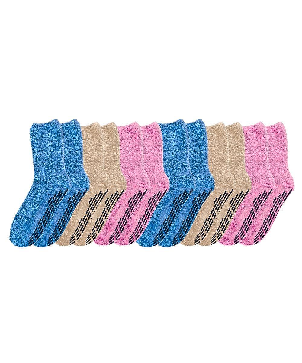 004b6851412b Non Skid Hospital Socks - Anti Slip Grip Socks For Women and Men ...