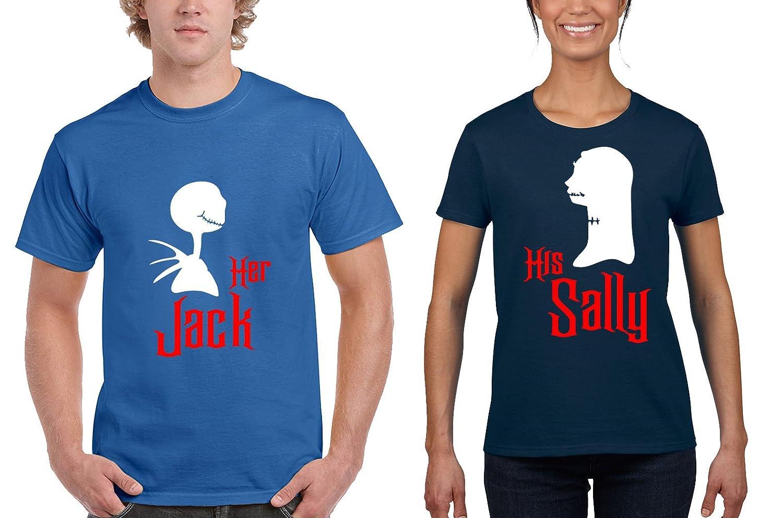 Amazon.com: Halloween Her Jack / His Sally Romantic Couples Matching ...