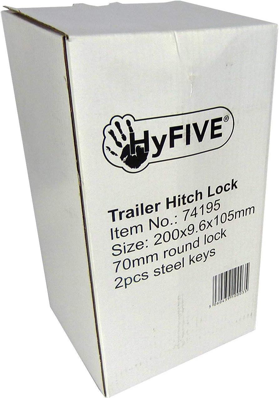 Hyfive bloccaggio del Sollevatore per Il Caravan//rimorchio con Lucchetto in Acciaio per impieghi Pesanti