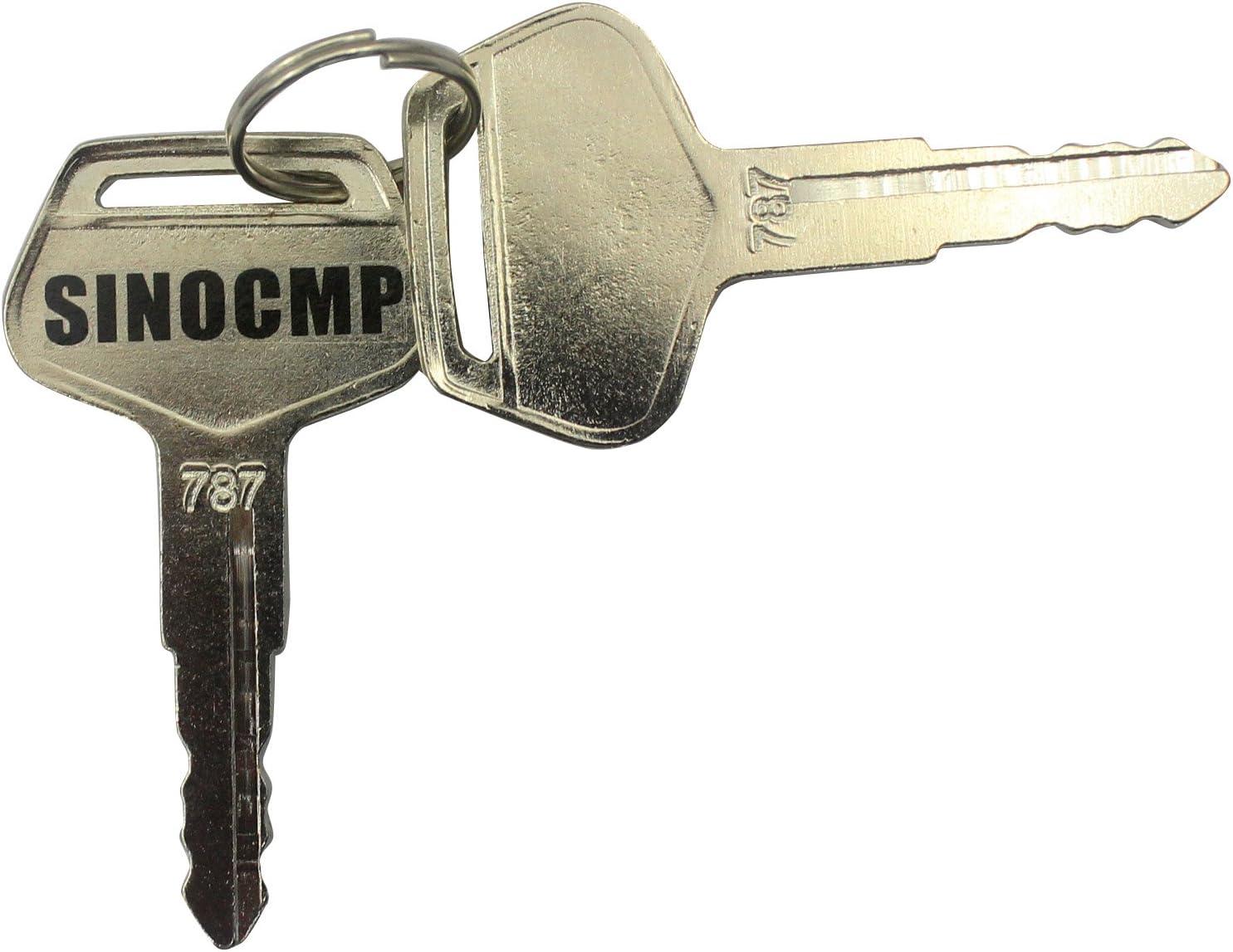 sinocmp excavadora 787clave para Komatsu excavadora llave, 2llaves, 3años de garantía