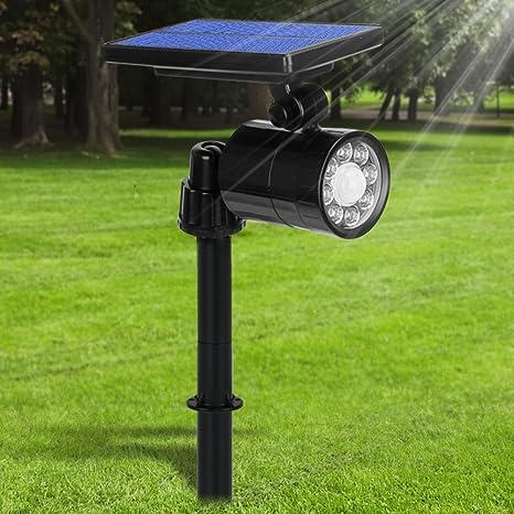 Lampe Solaire à 8 LED 800 Lumens Ultra Puissante,Eclairage Exterieur  Etanche 360° Angle Reglable ABS Luminaire Exterieur Sans Fil à 4 Modes avec  ...