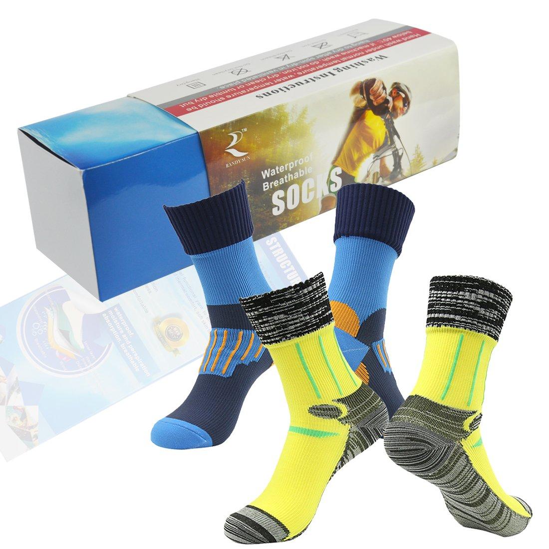 100% Waterproof Breathable Socks SGS Certified RANDY SUN Unisex Sport Climbing Skiing Trekking Hiking Socks
