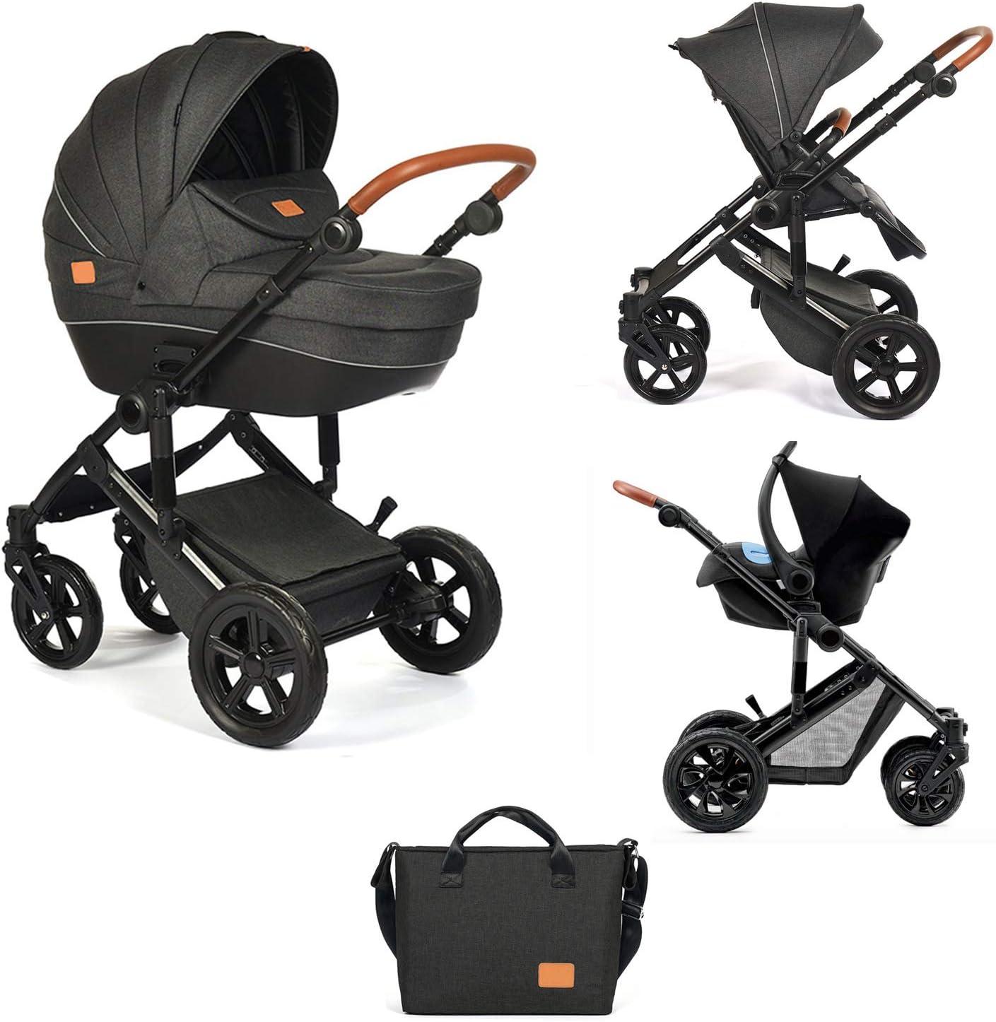 Ibaby One - Cochecito de bebe 3 en 1 - Capazo, Silla, Grupo 0 Plus y Bolso Cambiador - Silla de Paseo homologada 22 Kg