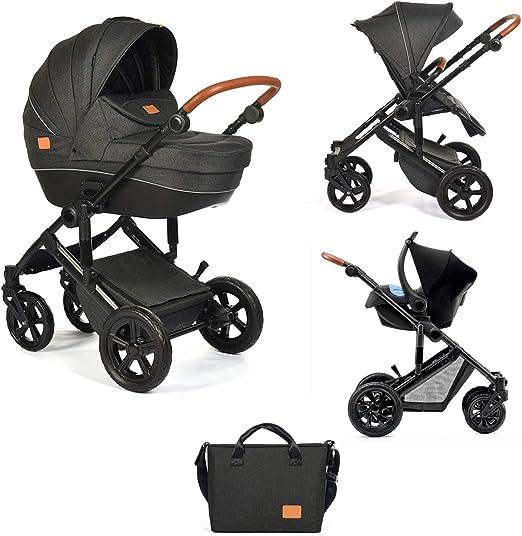 Star Ibaby Neo 3 Cochecito de Bebé, GrisNegro Nuevo modelo con silla homologada hasta 22 kg