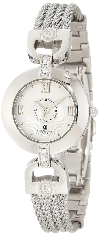 Charles-Hubert, Paris Women s 6809-W Premium Collection Stainless Steel Wire Bangle Watch