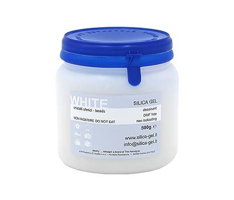 Silica gel blanco cristales de acoplamiento en Bote ...