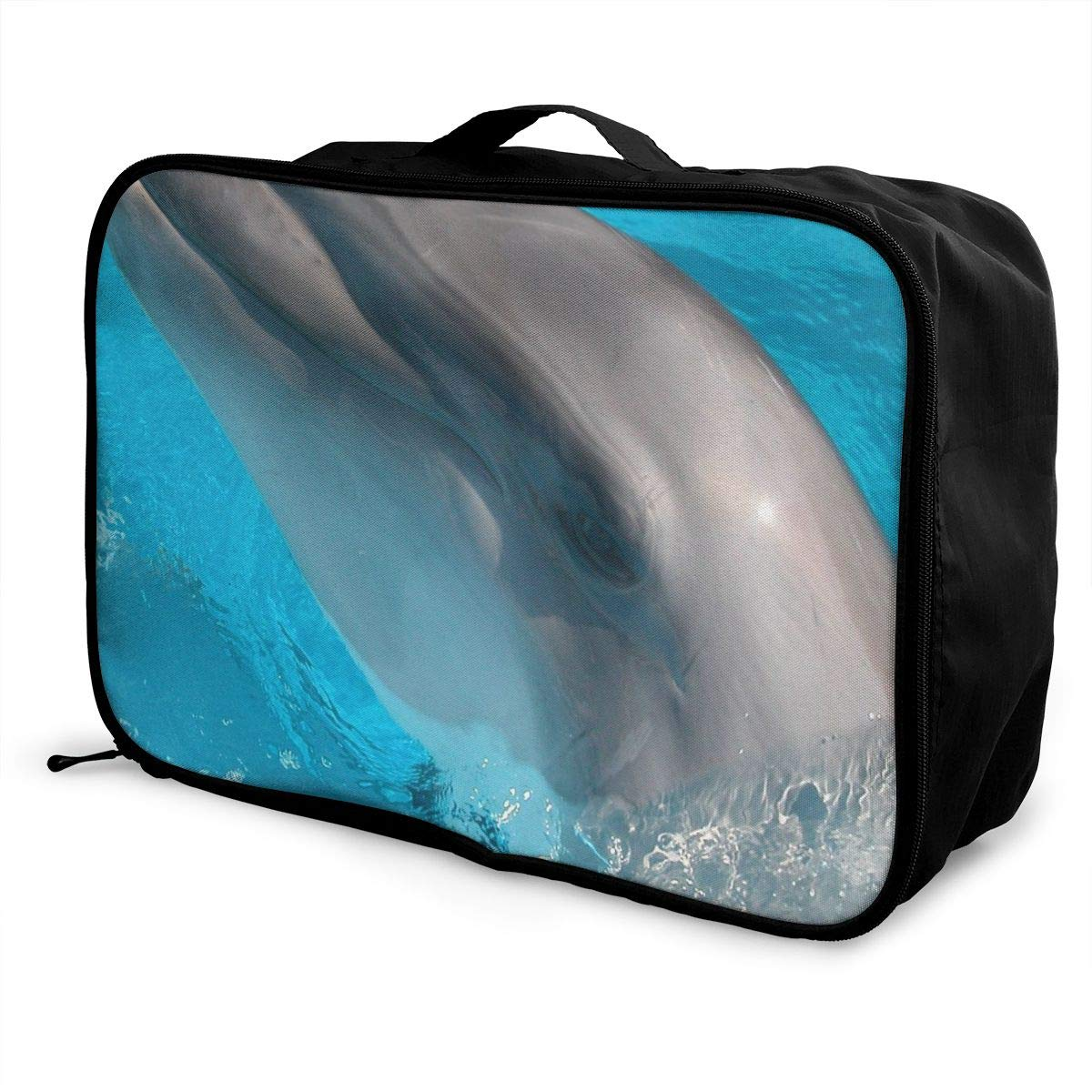 Lightweight Large Capacity Portable Luggage Bag Cute Animals Travel Waterproof Foldable Storage Carry Tote Bag