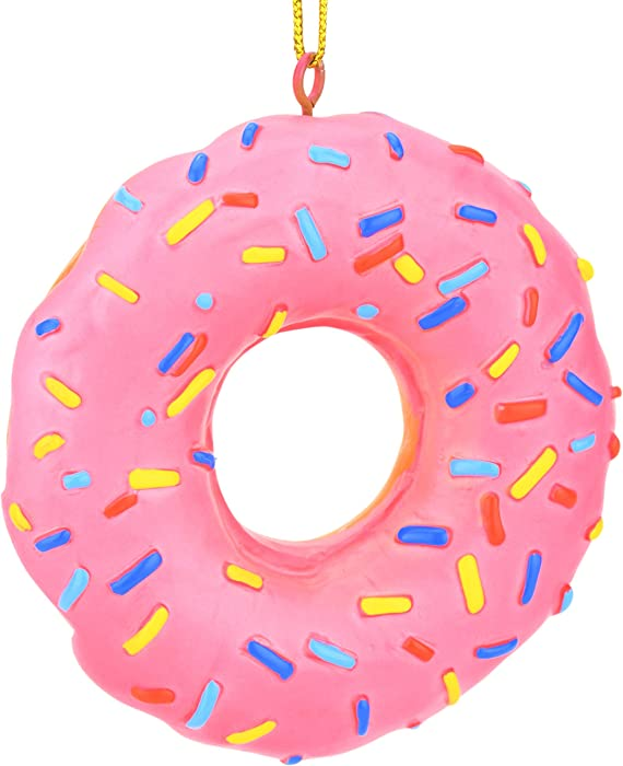 Tree Buddees Pink Donut with Sprinkles Food Christmas Ornament