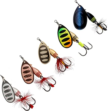 5.5g Fishing Lure Spoon Bait ideal for Bass Trout Perch pike rotating Fishing Al