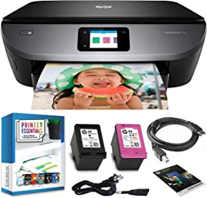 HP Envy Photo 7155 All in One Photo Printer with Wireless Printing, Scan, Copy, Fax, HP Instant Ink Ready, Works with Alexa (K7G93A) Bundle w/DGE USB Cable + Small Business Productivity Software