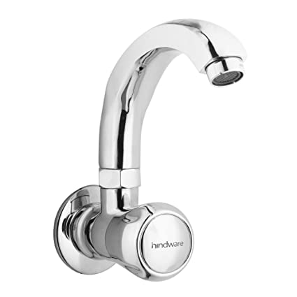 hindware f100024qt contessa sink tap with swivel casted spout wall
