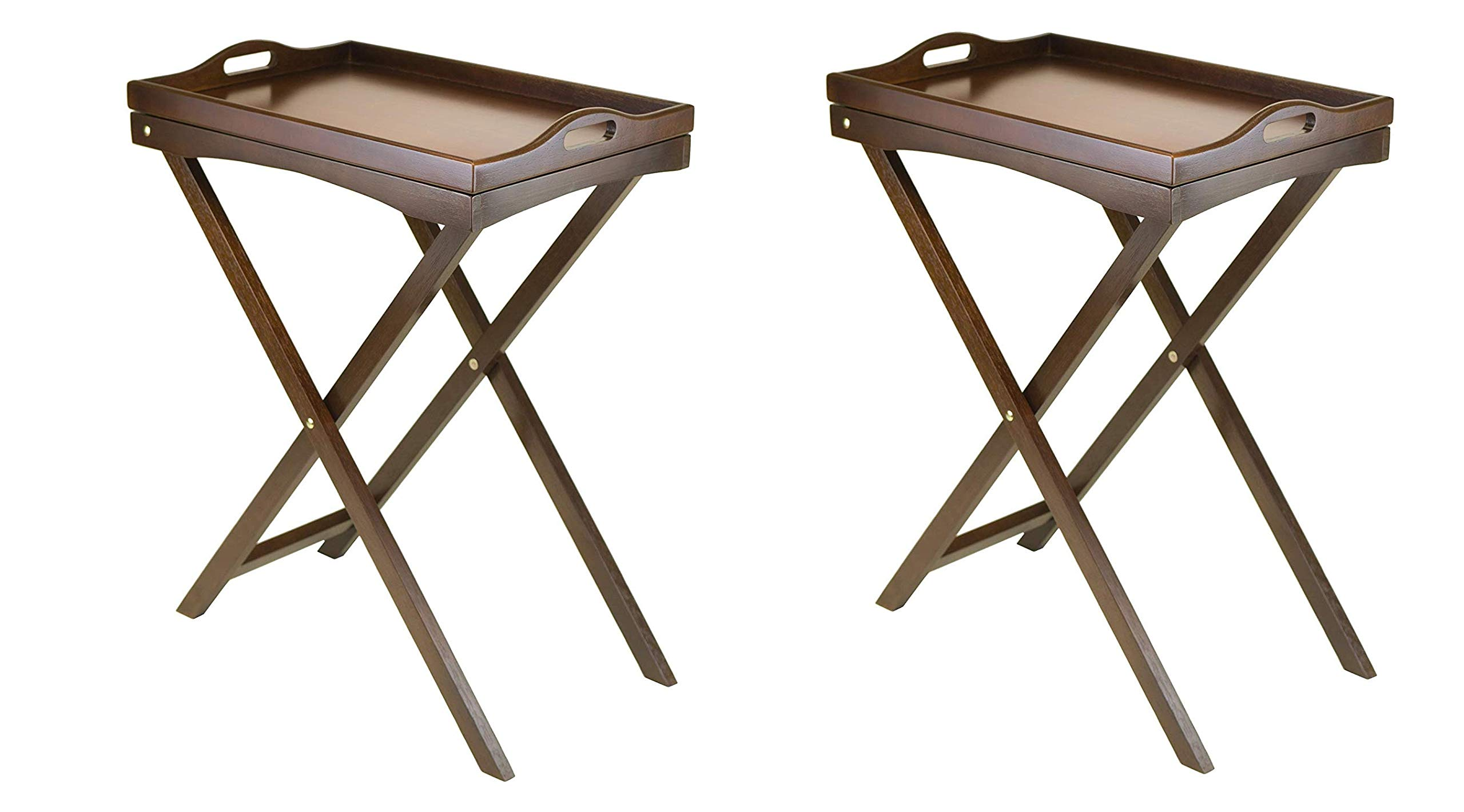 Winsome Wood Devon Butler TV Table with Serving Tray (Pack of 2) by Winsome Wood