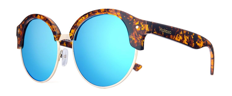 Maltessa Cat (Carey espejo Celeste) - Gafas de sol para ...