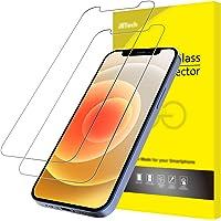 """JETech Schermbeschermer Compatibel met iPhone 12 / 12 Pro 6,1"""", Gehard Glas Screen Protector, 2 Stuks"""