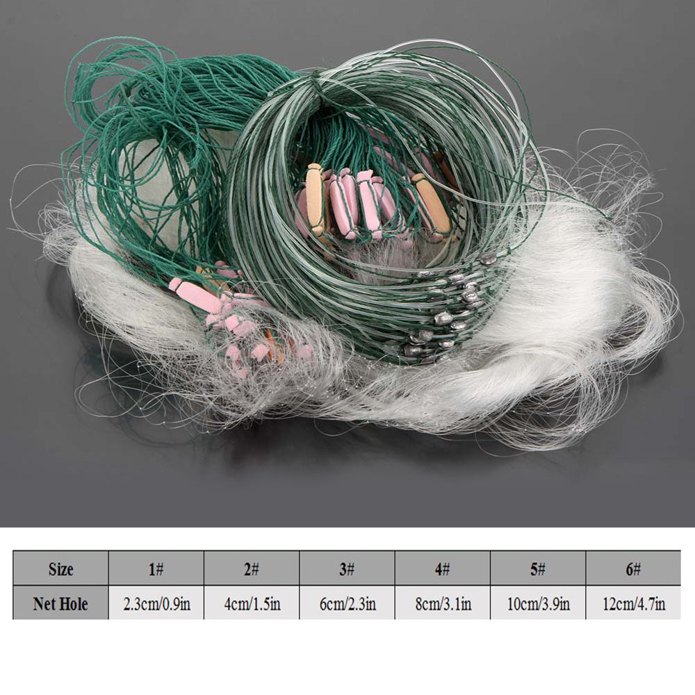 Lixada 25/m 3/Ebenen Monofile Fischerei Fisch Gill Net mit Float