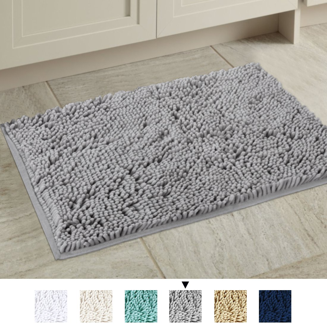 H Versailtex Bath Mat Super Soft Bath Rug For Bathrooms Microfiber