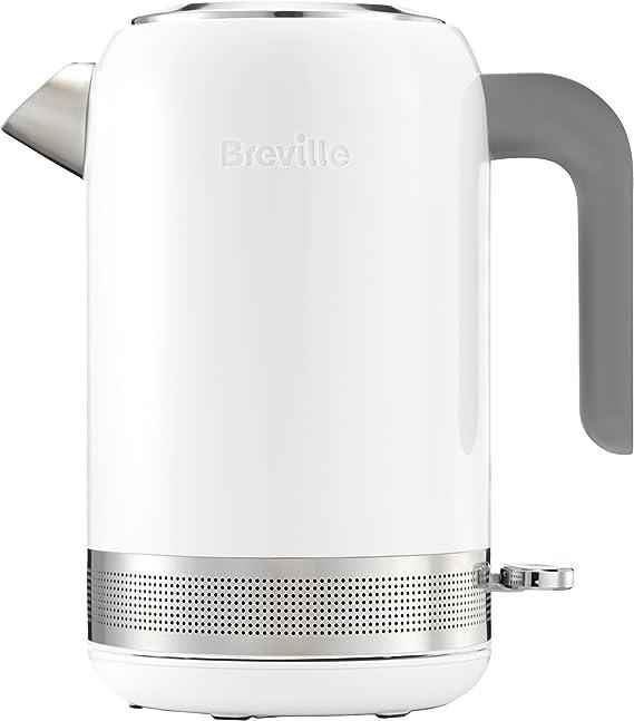 Breville VKJ944 Hervidor, color blanco, 2400 W, 1.7 litros, Acero ...