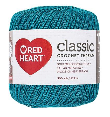 Amazoncom Red Heart 1440856 Classic Crochet Thread Peacock Arts