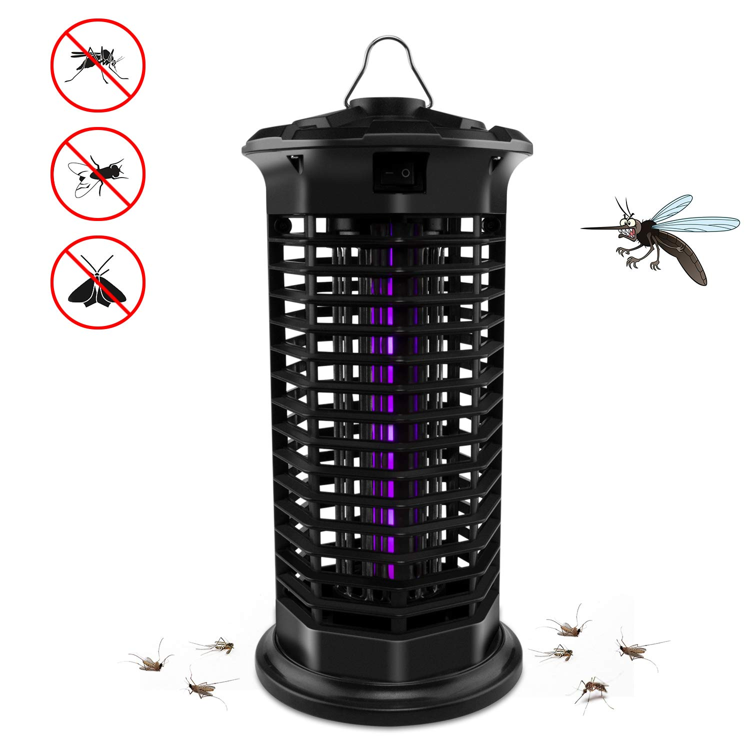 Big Devil Electric Bug Zapper, Powerful Mosquito Trap, Insects Killer with Hook, Light-Emitting Mosquito Lamp for Indoor Home Bedroom,Kitchen, Office(2019 Upgraded Black) by Big Devil