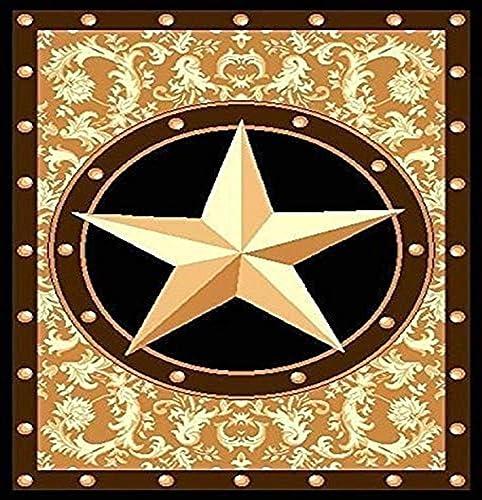 Furnish my Place Texas Western Star Rustic Cowboy Decor Area Rug