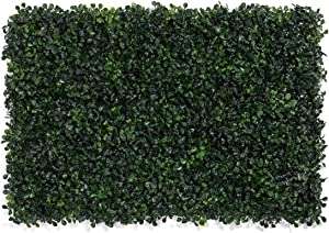 """LOHASBEE Artificial Boxwood Hedges Panels, 16"""" x 24"""" Faux Plant Ivy Fence Wall Cover, Outdoor Privacy Fence Screening Garden Decoration - 12 Pieces"""