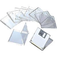 "ELECOM 3.5"" Computer Floppy Diskette Case / 10 Pack/Plastic Material/Secure Your Data/Data Strage/Transparent PK-10"