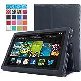 MoKo Amazon All-New Kindle Fire HD 7 Hülle Case Schutzhülle - Schlank Folding Hülle für All-New Fire HD 7.0-Zoll 2013 Gen Tablet, INDIGO (mit Smart Cover Auto Wake / Sleep, Nicht passen Kindle Fire HD 7 2012 et Fire HDX 7 2013)