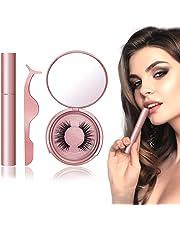 Magnetic Eyelashes, Magnetic Eyeliner, Easier To Use Magnetic False Lashes Set (Rose gold)