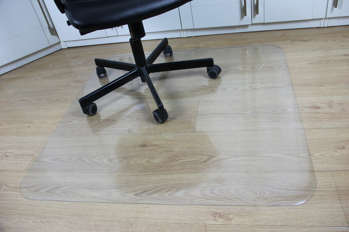 Office Desk Chair Mat for Hard Wood Floor PVC Clear Protection Floor Mat, 48'' x 36'',Premium Quality Chair Mat Thick And Sturdy