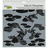 CRAFTERS WORKSHOP Koi Pond Template, 12-Inch by 12-Inch