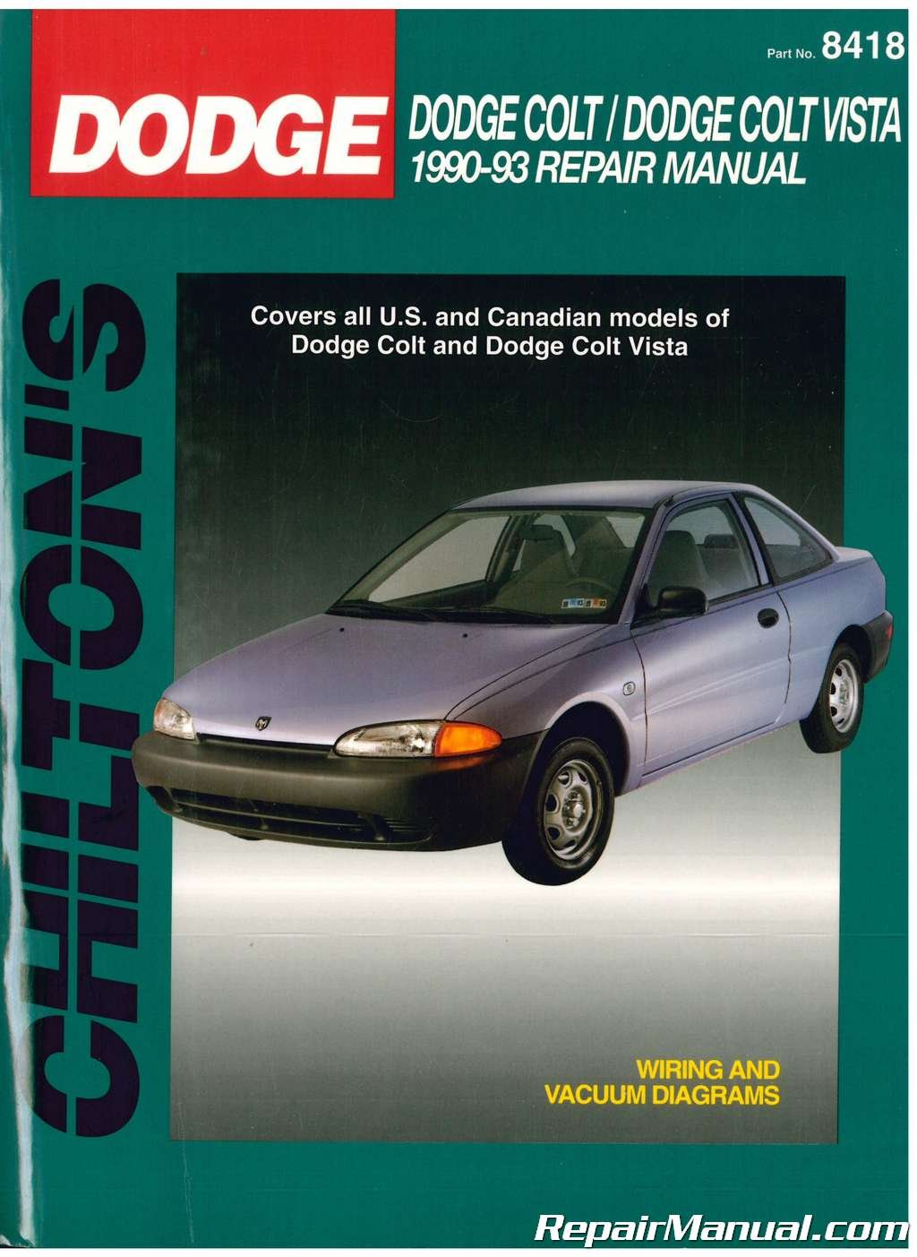 CH20342 Chilton Dodge and Plymouth Colt Vista 1990-1993 Repair Manual:  Manufacturer: Amazon.com: Books