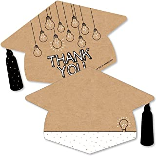 product image for Big Dot of Happiness Bright Future - Shaped Thank You Cards - Graduation Party Thank You Note Cards with Envelopes - Set of 12