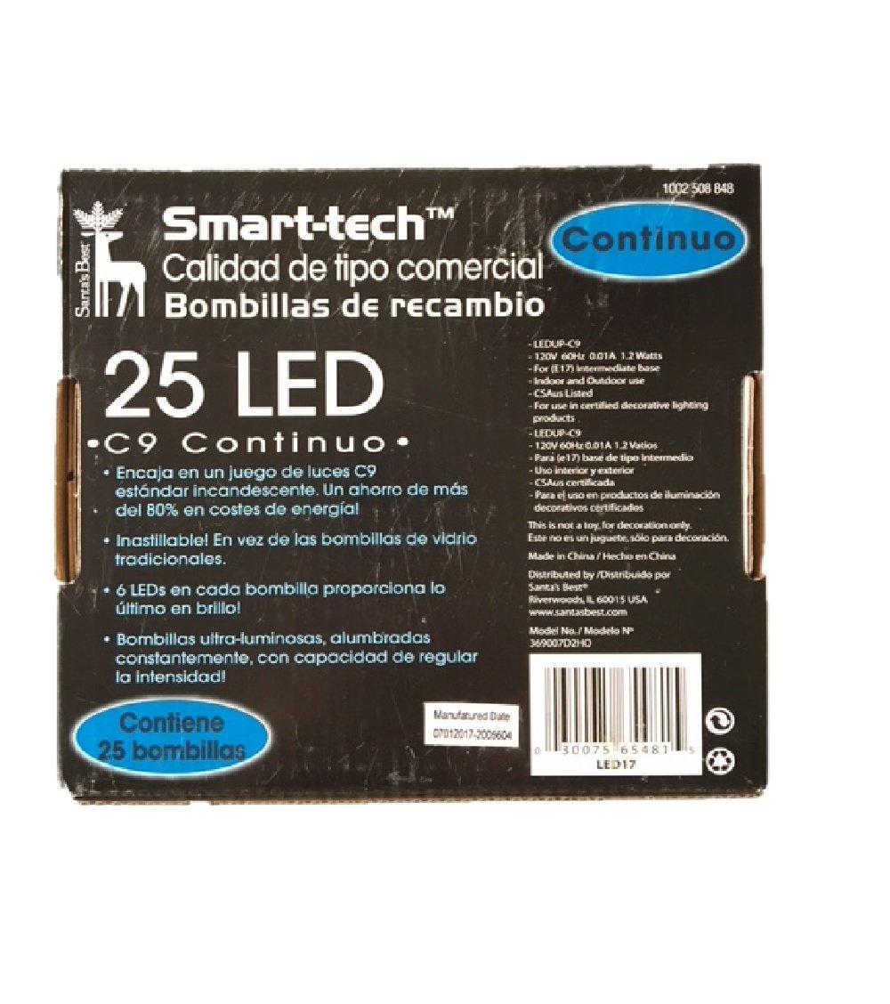 Smart-tech Commercial-grade C9 LED Bulbs - 25 Count (Purple) - - Amazon.com